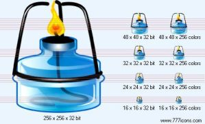 Spirit-lamp Icon by science-icons