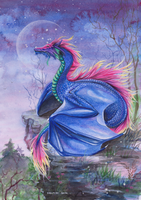 Rainbow Dragon by In-The-Distance