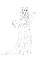 Draenei - sketch by midwinter0