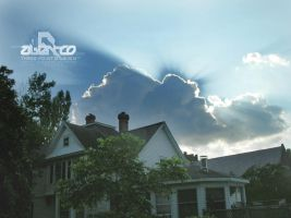 Summer Evening Cloud Eclipse by abentco
