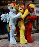 Mane Three MLP Ponies at Eurofurence by AtalontheDeer