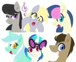 Background mane 6 by goshhhh
