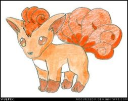Pokemon - Vulpix by accursedx