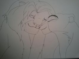 Lion King - Simba and Nala by JamesyBeanZ