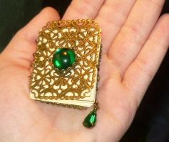 Emerald Spellbook - Necklace by Ganjamira