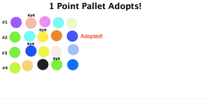 1 Point Pallet Adopts 2: 3/4 Open! by WarriorCatLuver123