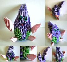 3D Origami Little Monster by Rajlakshmi