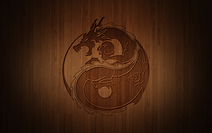 Yin Yang Dragon Re-Design by Drawder