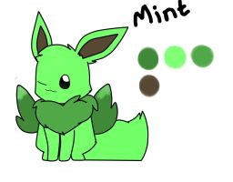 Mint flying eevee :3 by Luciana-vee