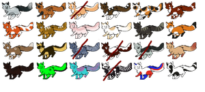 HUGE Warriors Adopt Sheet! .:PRICES REDUCED!!!!:. by Taandy