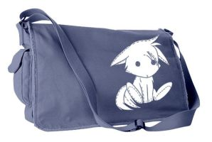 Plush Kitsune Messenger Bag by gesshoku-designs