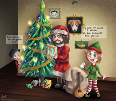 Let's Christmas Together by anouki-morgenstern