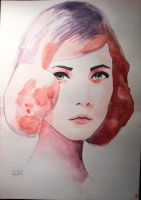 40s Lady In Pink by ZoeSBC