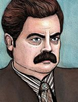 Ron Swanson by LucyJOrchard