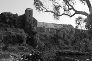 Old paper mill at Buckley Falls Geelong by Daan-NL