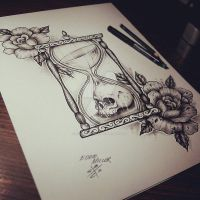 Hourglasses / Roses / Skull by EdwardMiller