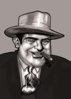 Chicago Gangster Al_Capone by Dessin75