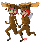 The real Moosewives of Wakfu by wulf