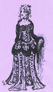 Gothic Lolita- India Ink by caishide