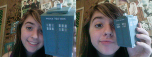 PAPERCRAFT TARDIS? YES. by xXFireFoxGirlXx
