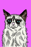 grumpy cat by erspears