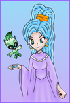 Schala and Celebi colored by MikariStar