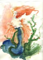 Aquarelle rousse by dinanta