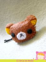 Rilakkuma hair pin by ElArcaDeNoelle