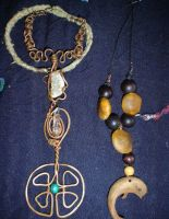 Necklaces - Celtic and Dolphin by SwirlzDesigns