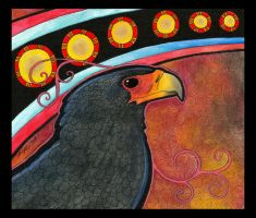 Bateleur Eagle as Totem by Ravenari