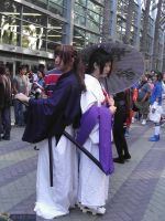 Yukishiro Tomoe and Battousai by lostlonepup