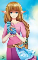 Skyward Zelda by SkayeArt