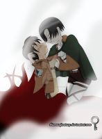 Levi and Eren: You idiot! by bluerosefantasy