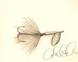 Rooster Tail Fishing Lure by audreydc1983