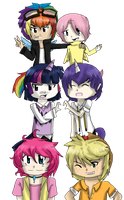 Brony chibies by XXred-pandaXX
