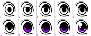 Quick Eye Tutorial in 10 Steps by AlexDachshund