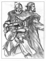 Alpha and Obiwan Pencil by ncajayon