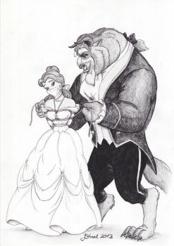 Beauty and the Beast - scene that never was by jstreel