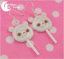 Lollipop bears Earrings by CuteMoonbunny