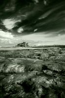 Bamburgh Castle 1 mono by newcastlemale