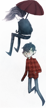 Marshall Lee and Marceline by thorxpoptarts