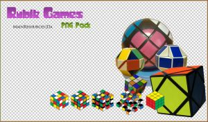 Rubik games PNG's by MainResources