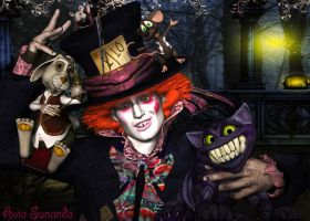 Mad hatter with his friends by Avia-Sunanda