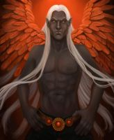 Winged Dark Elf by Nyrak