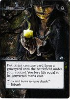 Magic Card Alteration: Reanimate by Ondal-the-Fool
