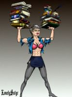 The Librarian in color by Lonelysatyr