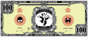 Monopoly bank note 100 poly by ironic440