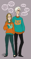 Matching Birthday Sweaters by katiemarieclaude
