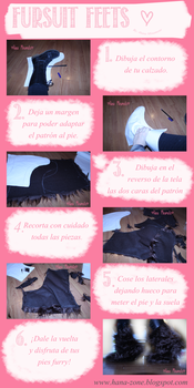 Fursuit Feets Tutorial (Cover Booots) Spanish by Hana-Zone