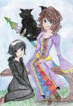 Angela, Elva and Solembum by Melody-in-the-Air